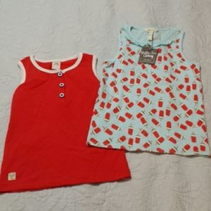 NWT Bundle of Girls Name Brand Tank Tops Size 10